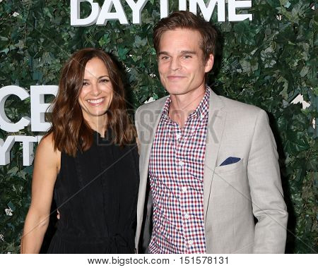 LOS ANGELES - OCT 10:  Rebecca Budig, Greg Rikaart at the CBS Daytime #1 for 30 Years Exhibit Reception at the Paley Center For Media on October 10, 2016 in Beverly Hills, CA