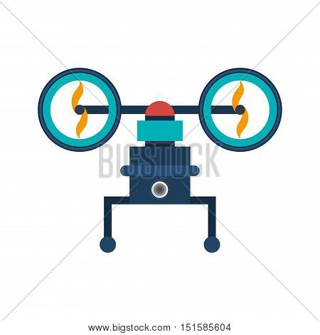 drone with support and two airscrew vector illustration