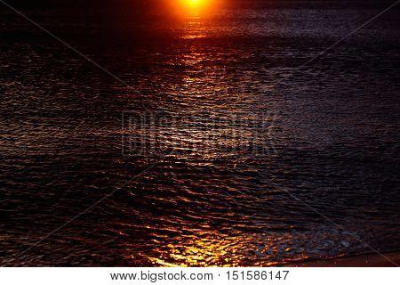 Sea Water In Twilight