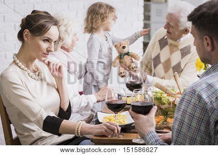 Shot Of A Family Dinner