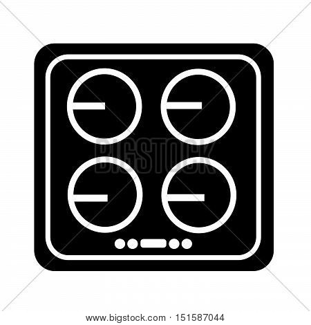 an images of electronic hob icon illustration design