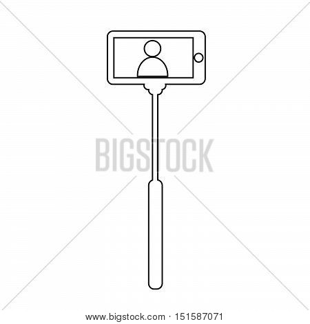 an images of Selfie Stick icon illustration design