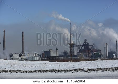 Industry, industry, industrial landscape, chimneys, pipes, cooling towers, buildings, plant, station, factory, power plants, energy, metallurgy
