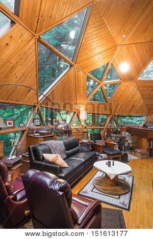 Tall Dome Cabin Living Room