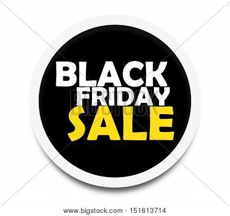 Sale Black Friday Circle Badge - Big Sale Sticker Stock Vector Flat Vintage Retro -