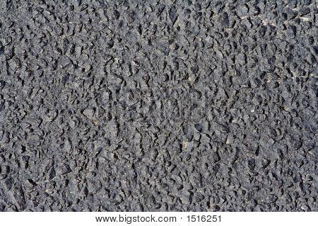 close up of parking lot asphalt black texture background poster