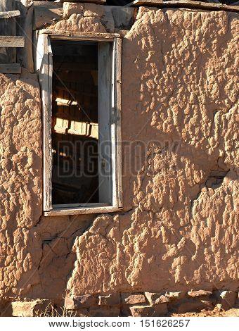 Adobe Wall And Window