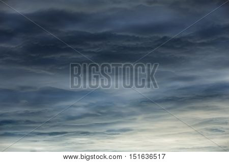 Dramatic sky abstract background with dark clouds
