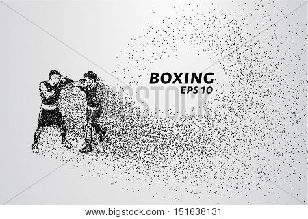 The Boxing of the particles. A Boxing match consists of small circles. The attacking boxers.