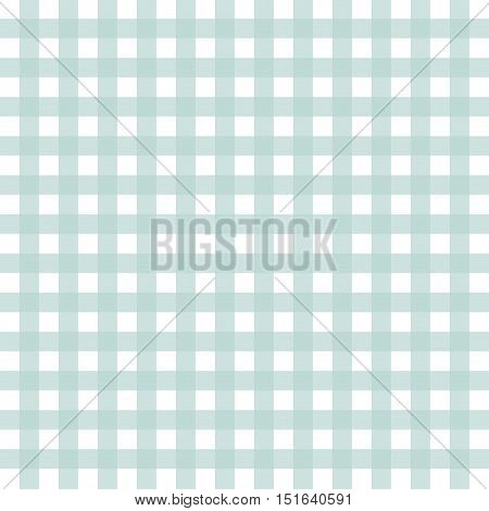 Green and white checked tablecloth. Tartan background