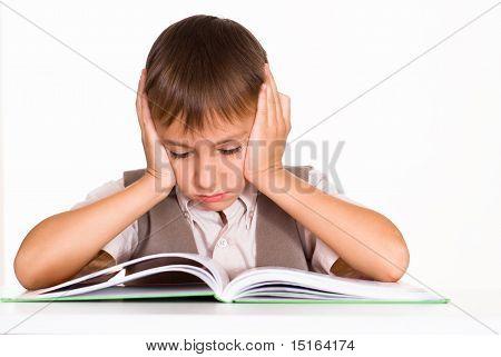 Handsome Boy Reading