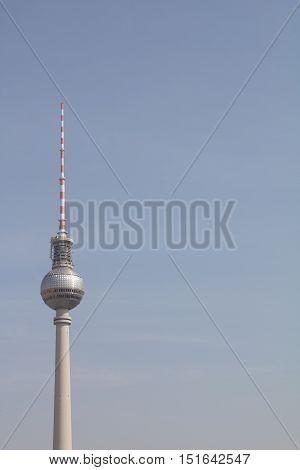 Berliner tv tower in nice weather Berlin, Germany