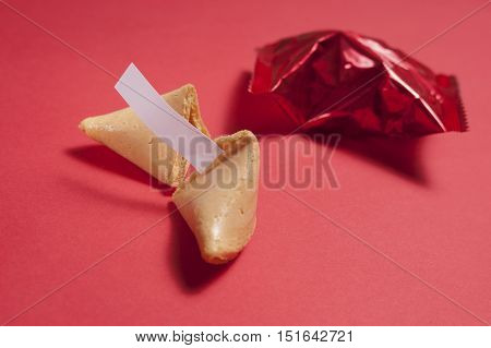 Fortune Cookies, One Sealed And One Cracked