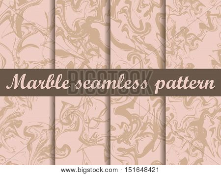 Marble Seamless Pattern. Hand Drawn Watercolor Marbling. Ink Marbling Texture. Vector Illustration.