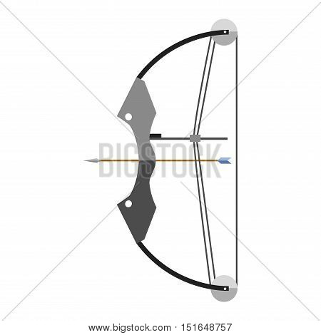 Crossbow arbalest vector illustration. Crossbow arbalest isolated on white background. Crossbow arbalest vector icon illustration. Crossbow arbalest isolated vector. Crossbow arbalest silhouette