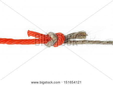 Natural versus Unnatural Ropes Fighting Abstract Concept