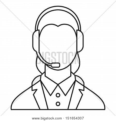 Dispatcher consultant icon. Outline illustration of dispatcher consultant vector icon for web