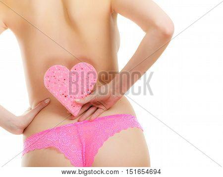 Woman Buttocks In Pink Panties