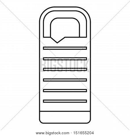 Tourist sleeping bag icon. Outline illustration of sleeping bag vector icon for web