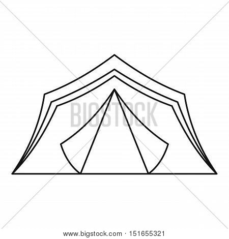 Tourist tent icon. Outline illustration of tourist tent vector icon for web