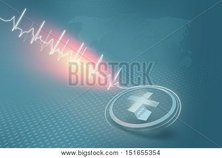 Medical Abstract Healthcare Background; Abstract Background Suitable for Healthcare and Medical News Topic 3d Render 3d illustration