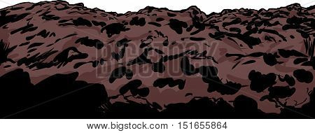 Close Up Illustration Of Soil