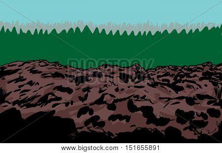 Rocky Slag Heap Mine Background