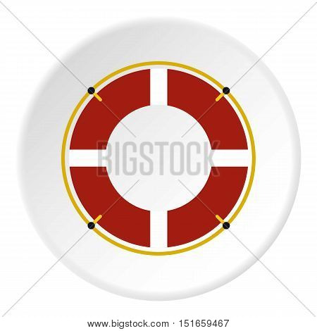 Lifebuoy icon. Flat illustration of lifebuoy vector icon for web design
