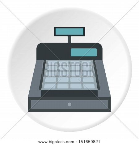 Cash register icon. Flat illustration of cash register vector icon for web design