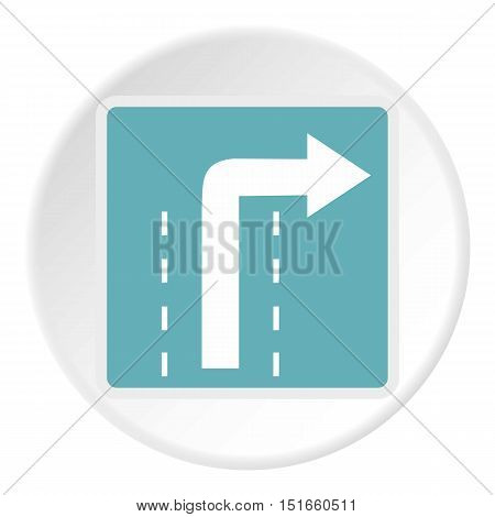 Sign right way icon. Flat illustration of sign right way vector icon for web