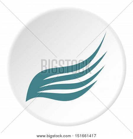 Birds wing with feathers icon. Flat illustration of birds wing with feathers vector icon for web