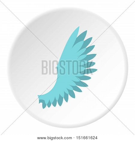 One wing icon. Flat illustration of one wing vector icon for web