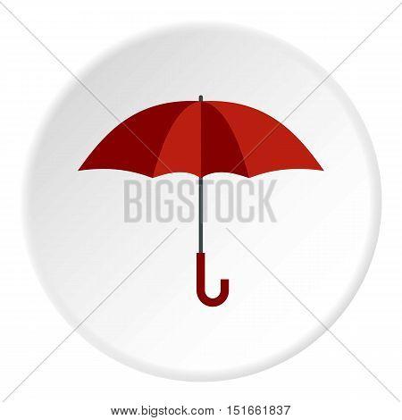 Umbrella icon. Flat illustration of umbrella vector icon for web