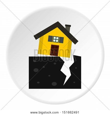 Fault of earth icon. Flat illustration of fault of earth vector icon for web