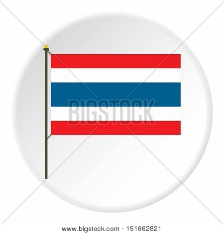 Flag of Thailand icon. Flat illustration of flag of Thailand vector icon for web