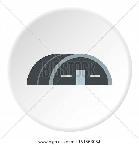 Large hangar icon. Flat illustration of large hangar vector icon for web