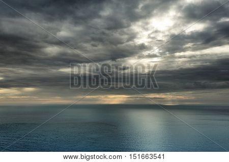 morning view of Ocean from Nordkapp Finnmark Norway