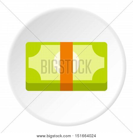 Bundle of money icon. Flat illustration of bundle of money vector icon for web