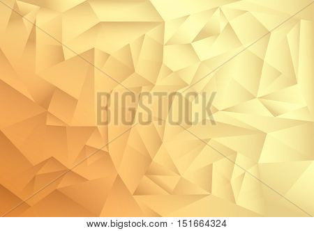 polygon pattern abstract background, gold and brown theme shade, vector, illustration, copy space for text