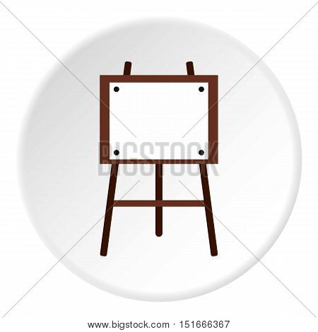 Easel for painter icon. Flat illustration of easel for painter vector icon for web
