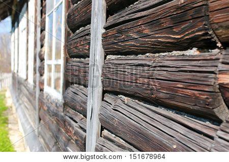 wooden rustic texture of village hone outdoor