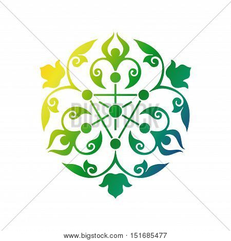 Arabic oriental ornament floral pattern motif arabesque arabic ornament