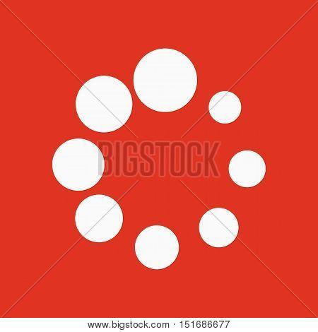 The loading icon. Load symbol. Flat Vector illustration