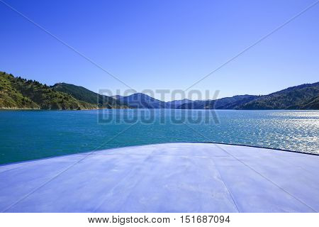 Marlborough Sounds Seen From Ferry, New Zealand