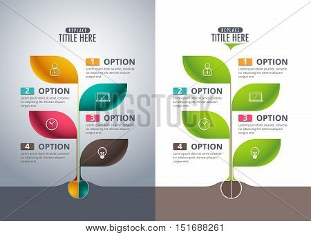 Infographic tree design concept. vector illustration. org chart.