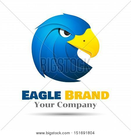 Eagle logo template. Vector business icon. Corporate branding identity design illustration for your company. Creative abstract concept.