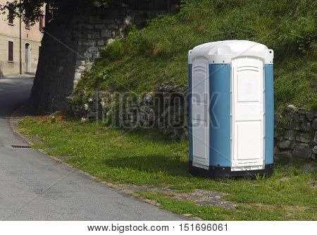 composting toilet in a park in Switzerland