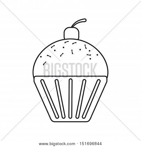 Muffin icon. Bakery food product and menu theme. Isolated design. Vector illustration