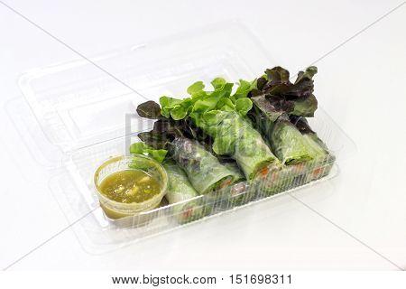 Vegetarain Food With Spicy Sauce
