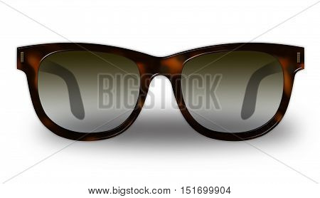 Classic man glasses with tortoiseshell frames isolated on white background